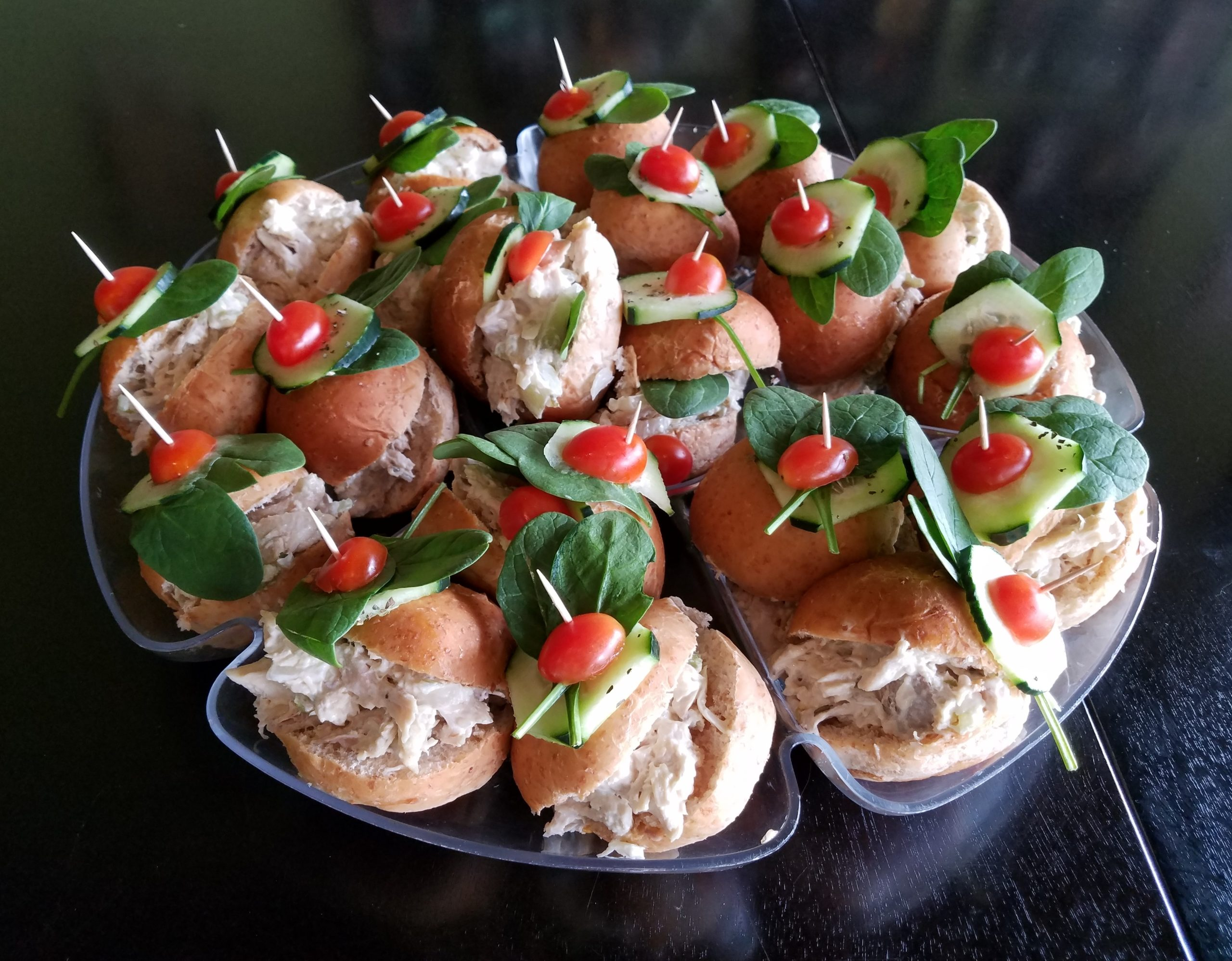 Catering sliders tray